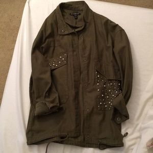 Zara Jeweled Utility Jacket